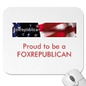 Foxrepublican banner, Proud to be aFOXREPUBLICAN mousepad
